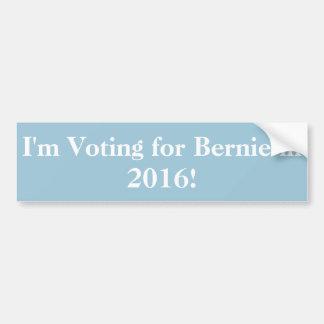Ich wähle für Bernie im Jahre 2016! Autoaufkleber