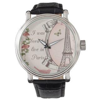 Ich war geboren, in Paris zu wohnen Armbanduhr