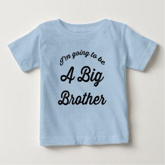 Ich werde ein Bruder-T-Shirt Blau sein Baby T-shirt