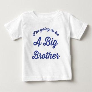 Ich werde ein Bruder-T-Shirt im Blau sein Baby T-shirt