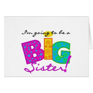 Ich werde eine GROSSE Schwester sein Karte