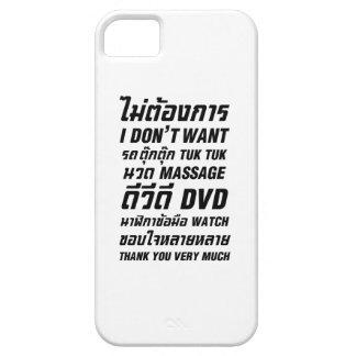 Ich will nicht TUK TUK UHR MASSAGE-DVD danke Ihnen iPhone 5 Hüllen
