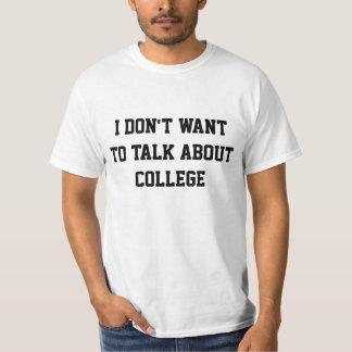 Ich will nicht, um über Uni zu sprechen T-Shirt