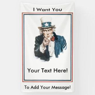 ICH WILL SIE, um Ihren eigenen Mitteilungs-Uncle Banner