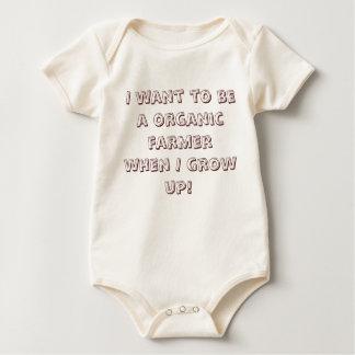 Ich will, um ein Bio Bauer zu sein, wenn ich Baby Strampler