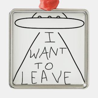ich will, um zu verlassen silbernes ornament