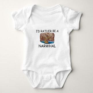 Ich würde eher ein Narwhal sein Baby Strampler