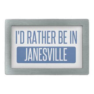 Ich würde eher in Janesville sein Rechteckige Gürtelschnalle