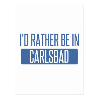 Ich würde eher in Karlsbad sein Postkarte