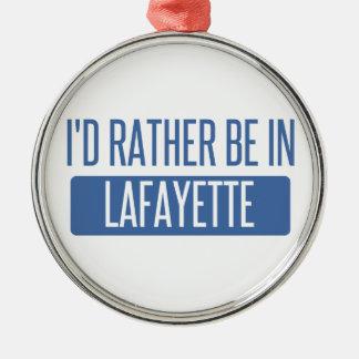 Ich würde eher in Lafayette-LA sein Silbernes Ornament