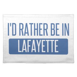Ich würde eher in Lafayette-LA sein Tischset