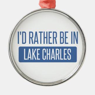 Ich würde eher in Lake Charles sein Silbernes Ornament