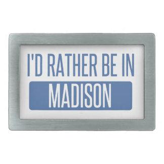 Ich würde eher in Madison WI sein Rechteckige Gürtelschnalle
