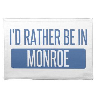 Ich würde eher in Monroe sein Stofftischset