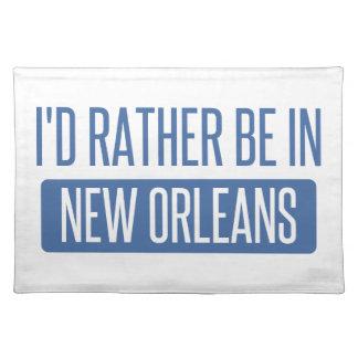 Ich würde eher in New Orleans sein Stofftischset