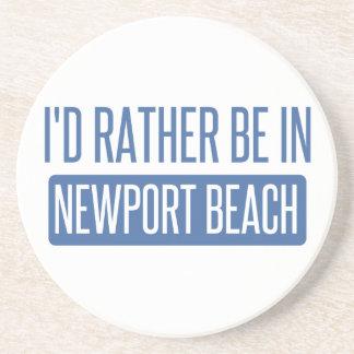 Ich würde eher in Newport-Strand sein Sandstein Untersetzer
