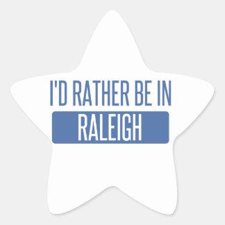 Ich würde eher in Raleigh sein Stern-Aufkleber