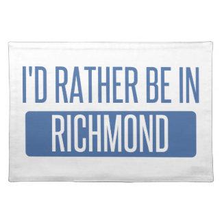 Ich würde eher in Richmond HEREIN sein Stofftischset