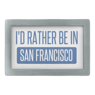 Ich würde eher in San Francisco sein Rechteckige Gürtelschnalle