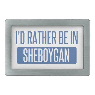 Ich würde eher in Sheboygan sein Rechteckige Gürtelschnalle