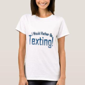 Ich würde eher simse sein T-Shirt
