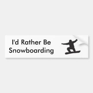 Ich würde eher Snowboarding sein Autoaufkleber
