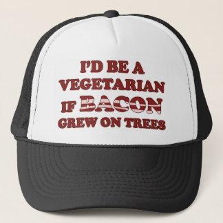 Ich würde ein Vegetarier sein, wenn Speck auf Truckerkappe