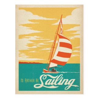 Ich würde vielmehr segeln postkarte