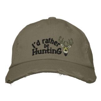 Ich würde vielmehr weiße Schwanz-Stickerei jagen Bestickte Kappe