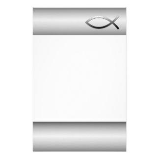 Ichthys Jesus Fisch-christliches Symbol Briefpapier