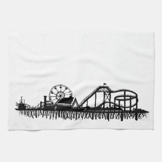 Iconic Pier-Silhouette Kaliforniens Santa Monica Küchentuch