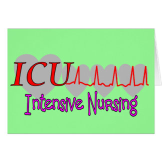 ICU INTENSIVE Krankenpflege-einzigartige Geschenke Grußkarte