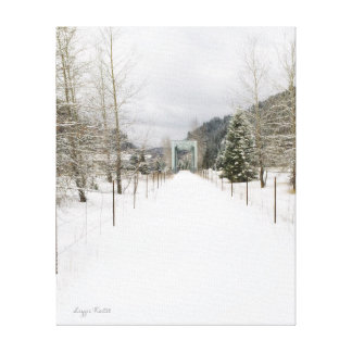 Idaho-Fahrrad-Weg im Winter Leinwanddruck