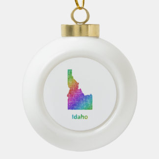 Idaho Keramik Kugel-Ornament