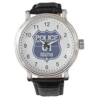 Idaho-Polizeidienststelle-Schild 01 Uhr