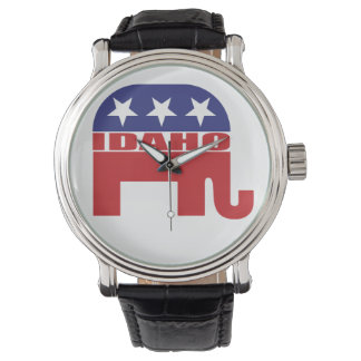 Idaho-Republikaner-Elefant Uhr
