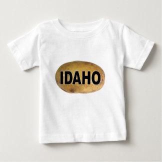 Idahoeuroart-ovale Auto-Abziehbild-Kartoffeln Baby T-shirt