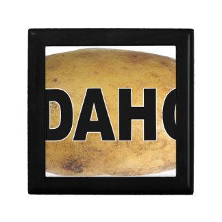 Idahoeuroart-ovale Auto-Abziehbild-Kartoffeln Erinnerungskiste