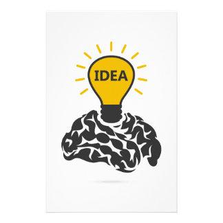 Idee eines Gehirns Büropapiere
