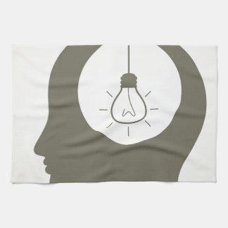Idee in einem Kopf Geschirrtuch