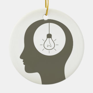 Idee in einem Kopf Keramik Ornament
