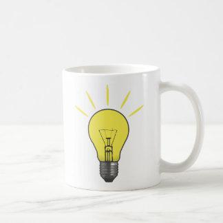 Ideen-Glühlampe Kaffeetasse