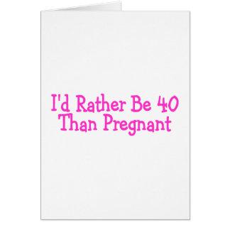 Identifikation ist eher 40 als schwangeres Rosa Karten
