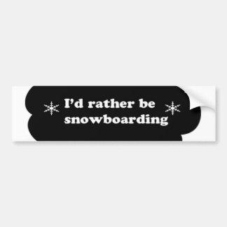 Identifikation ist eher Snowboarding Autoaufkleber