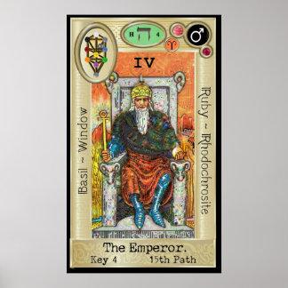 Ifdawn Deepdream Tarot-Schlüssel 4 ~ der Kaiser Poster