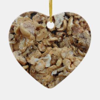 Igels-Pilze Keramik Herz-Ornament