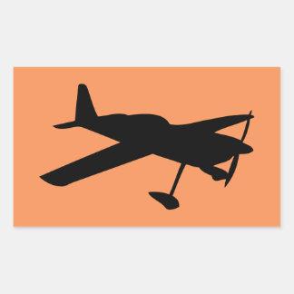 ight Flugzeuge Rechteckiger Aufkleber