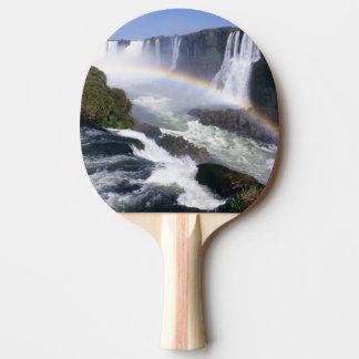 Iguassu Fälle, Paraná-Staat, Brasilien. Tischtennis Schläger