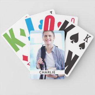 IHR Foto u. Namensspielkarten Bicycle Spielkarten