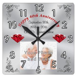 Ihr FOTO und TEXT 40. Jahrestags-Geschenke Uhren